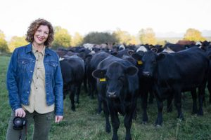 Audra Mulkern and cows