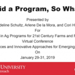 "Title Slide for ""You Did a Program, So What?"""