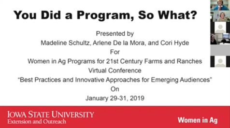 """Title Slide for """"You Did a Program, So What?"""""""